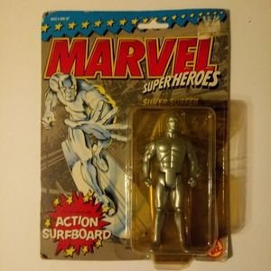 "Silver Surfer Marvel Super Heroes 5"" action figure"